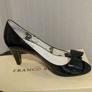 Franco Sarto Black Patent Leather Pumps 9